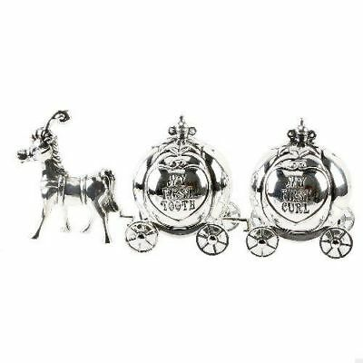 Silver Plated First Tooth & Curl Cinderella Carriage