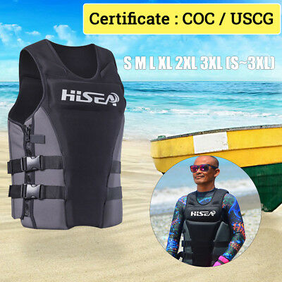 Adult Kids Life Jacket Neoprene Vest COC / USCG Certificate PFD Swimming Boating