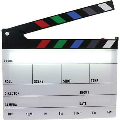 Cavision Next-Generation Clapper Slate with LED Light and Color Clap Sticks