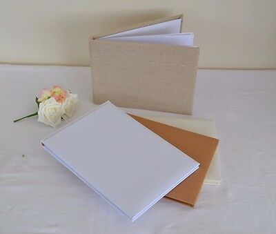 White Ivory craft brown guest book great DIY personalising wedding christening