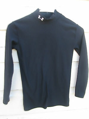 9630687a150c Under Armour Youth Large Black Cold Gear Fitted Longsleeved Shirt Boys L YLG
