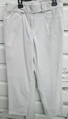 b37590a0e36 Talbots Womens Petites Stretch Cream Boot Cut Pants Cords Corduroy Size 8
