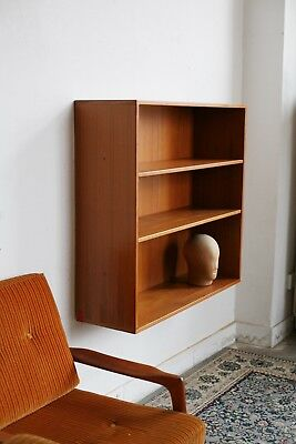 TRUE VINTAGE großes TEAK REGAL hängend 60er danish modern 70er Bücherregal
