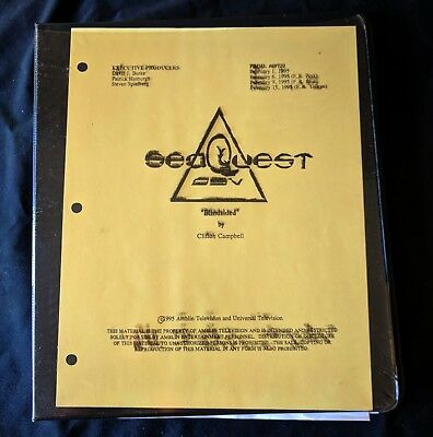 1/11 SeaQuest DSV Production BLINDSIDED Show Bible 103 pages Storyboards Script