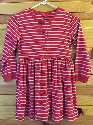 93e015e98d3e2 Hanna Andersson Play Dress / Day Dress Girls Red w/Pink Stripes Size 120 6
