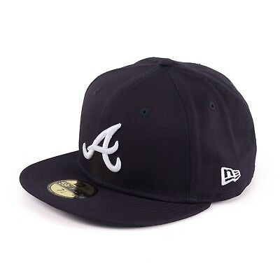 New Era Atlanta Braves 59Fifty League Essential Fitted Cap Navy 93957