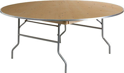 Lot Of 30 - 6 Ft Round Heavy Duty Birchwood Folding Banquet Tables