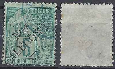 France Colony New Caledonia N°24 - Obliteration Stamp Has Date - Value