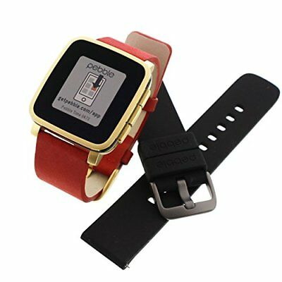 Pebble Time Steel Gold Deluxe Black Edition - Black