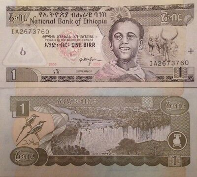 Ethiopia 2006 1 Birr Uncirculated Banknote P-46 Sharp Buy From A Usa Seller !!!