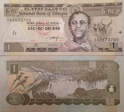 Ethiopia 2008 1 Birr Uncirculated Banknote P-46 Sharp Buy From A Usa Seller !!!