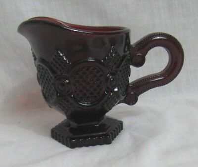 Avon CAPE COD Cranberry Ruby Red Glass Small Pitcher, Creamer