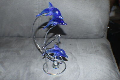 Dolphins Playing Desk Figurines