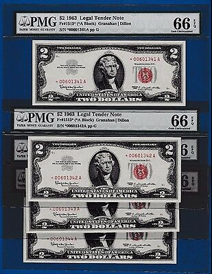 Fr.1513*   $2  1963  STAR  LEGAL TENDER UNITED STATES -BUY ONE NOTE OF 5  PMG 66