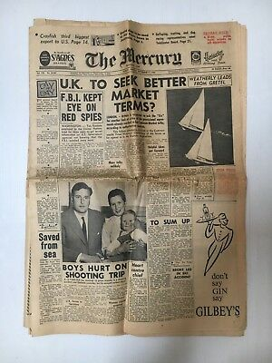 The Mercury Tasmania Whole Newspaper From September 17Th 1962