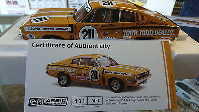 Classic Carlectables 1/18 Scale Leo Leonard's E49 Charger Sm18639
