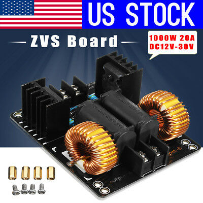 US 1000W ZVS Induction Heating Module Board Low Voltage Flyback Driver Heater
