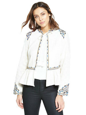 V By Very Embroidered Cropped Jacket