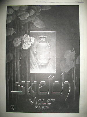 Publicite De Presse Violet Parfum Sketch Illustration Leonnec French Ad 124