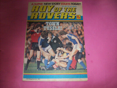 1981 Roy of the Rovers vintage comic The Hard Man Tommy's Troubles Mighty Mouse