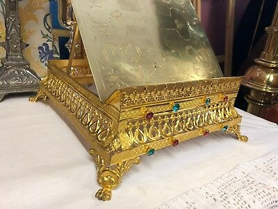 Rare Stunning 19th Century French Missal Stand - 8 Jewels
