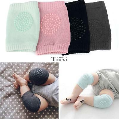 2X Baby Infant Toddler Anti-slip Crawling Knee Pads Safety Cushion Protector Leg