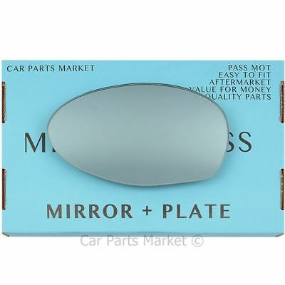 Left side for Alfa Romeo 147 00-10 Wide Angle heat Blue wing door mirror glass