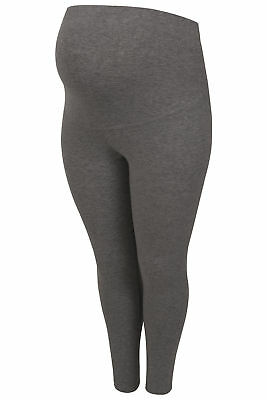 Womens Bump It Up Maternity Charcoal Cotton Elastane Leggings With Comfort Panel