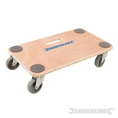 Wheeled Platform Dolly 150kg Capacity Durable Plywood Furniture Movement Tool