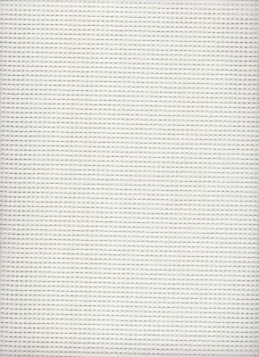 7 count  Zweigart Stramin Canvas White  - fat quarter 50x59cms
