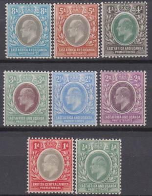 East Africa & Uganda 1903 Mint Mounted Set to 8a Cat £114   LIGHT HINGED