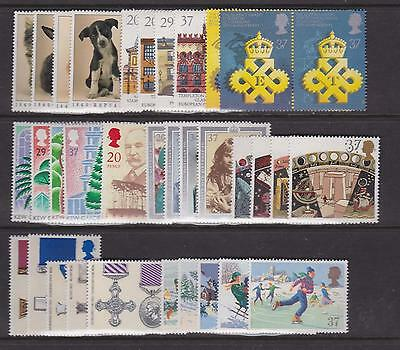 G.b. - Complete 1990 Commemorative Year Set Unmounted Mint - (9 Sets)  (Ref.a2)