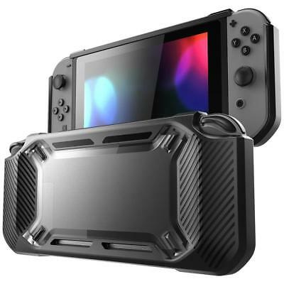 Heavy Duty Rubber Protective Hard Shell Case Cover for Nintendo Switch Black  B7