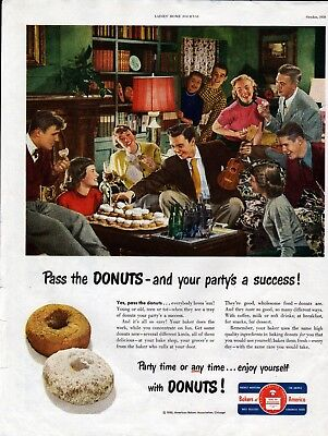 1950 Pass The Donuts & Your Party's A Success Ad