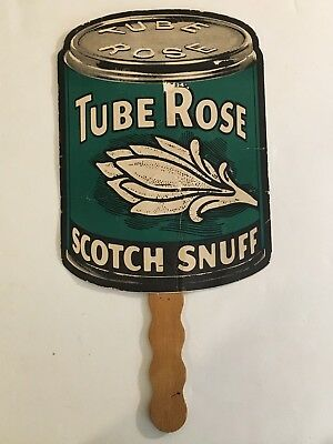 Tube Rose Scotch Snuff Hand Fan - 1986 Brown & Williamson