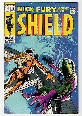 Marvel - NICK FURY, AGENT OF SHIELD #11 - B. Smith Cover - FN 1969 Vintage Comic