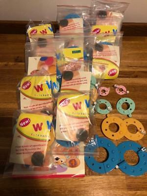 Job Lot 14 Packs Of Pom Pom Maker Fluffy Ball, 8 Rings Per Kit Craft Knitting