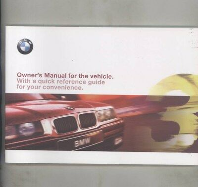 1998 BMW US 318i 318is 323i 323is 328i 328is MINT ORIGINAL Owner's Manual wy9981
