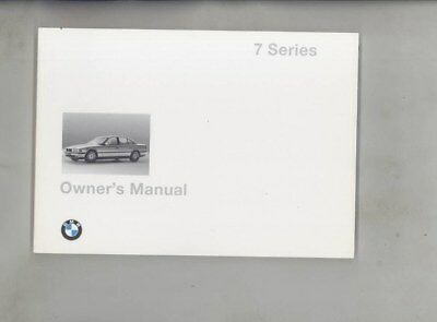1998 BMW US 740 740iL 750 750iL MINT ORIGINAL Owner's Manual wy9983