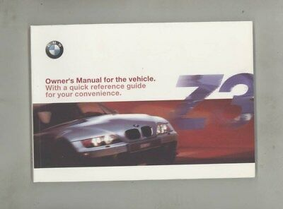 2001 BMW US Z3 2.5i 3.0i Roadster 3.0i Coupe MINT ORIGINAL Owner's Manual wy9993