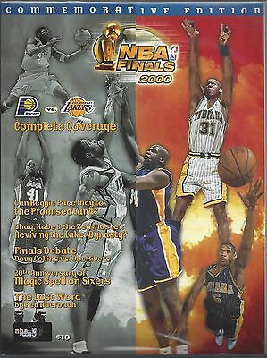 1999-2000 Nba Finals Pacers @ La Lakers Basketball Program - Stadium Issue Kobe