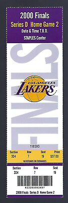 1999-2000 Nba Finals Pacers @ Los Angeles Lakers Full Ticket Game #2 - Kobe Nmt