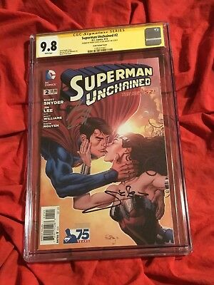 Cgc Ss 9.8~Superman Unchained #2~Wonder Woman Kiss~Signed Gal Gadot+Henry Cavill