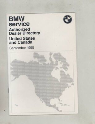1990 BMW US & Canada Authorized Dealer Directory Brochure wz0020
