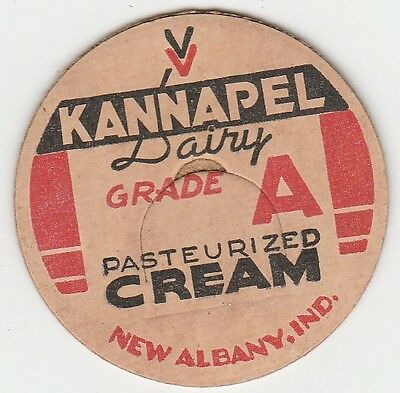 Milk Bottle Cap. Kannapel Dairy. New Albany, In.