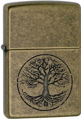 Zippo 2016 Catalog NEW Tree Of Life Lustre Antique Brass Windproof Lighter 29149