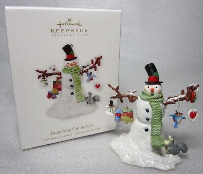 Hallmark Keepsake Ornament Club 2010 Branching Out in Style Snowman NEW SEALED