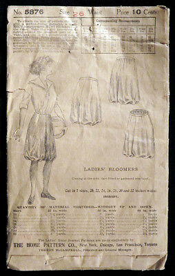 1905 1910 Rare LADIES' HOME JOURNAL Sewing Pattern WOMEN'S BLOOMERS Complete N/R