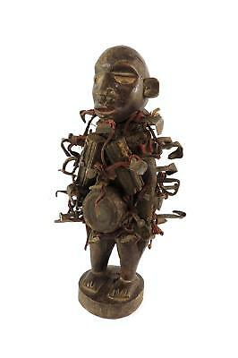 Bakongo Nkisi Power Figure Fetish Miniature African Art