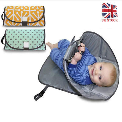 Portable Clean Hands Changing Pad Diaper Clutch Changing Station Infant Pad UK